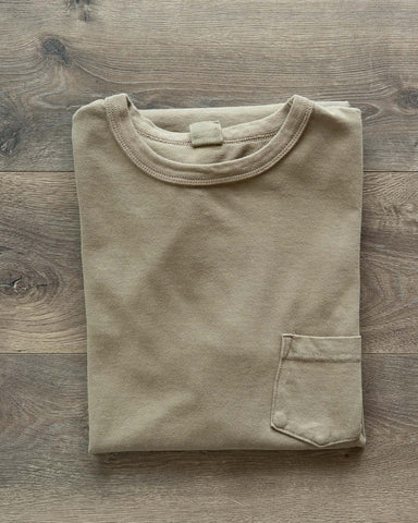 Garment Dyed Pocket Tee - Olive