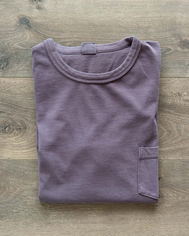 Garment Dyed Pocket Tee - Purple