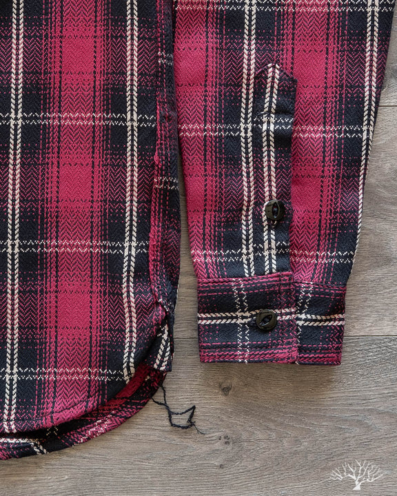 Heavyweight Crosscut Flannel - Red Plaid