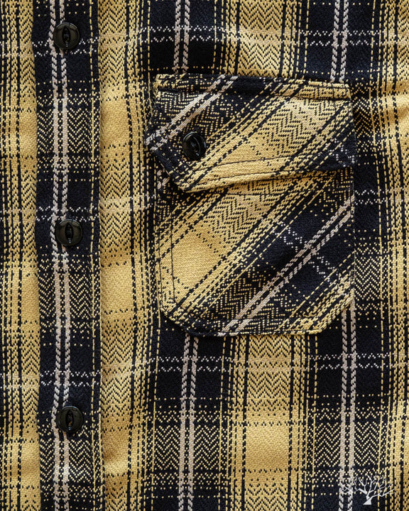 Heavyweight Crosscut Flannel - Yellow Plaid