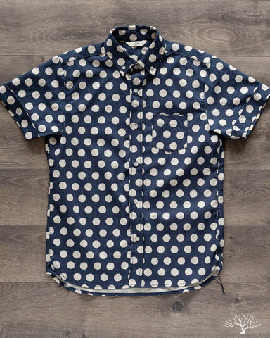 Jumbo Polka Button Down Shirt