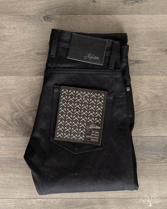 ST-220x Slim Tapered Double Black Selvedge Denim