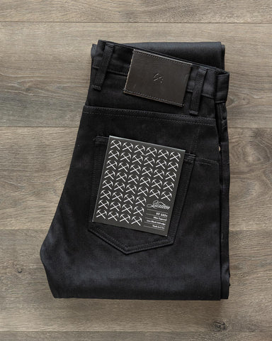 ST-222x Slim Tapered Lightweight Double Black Selvedge Denim