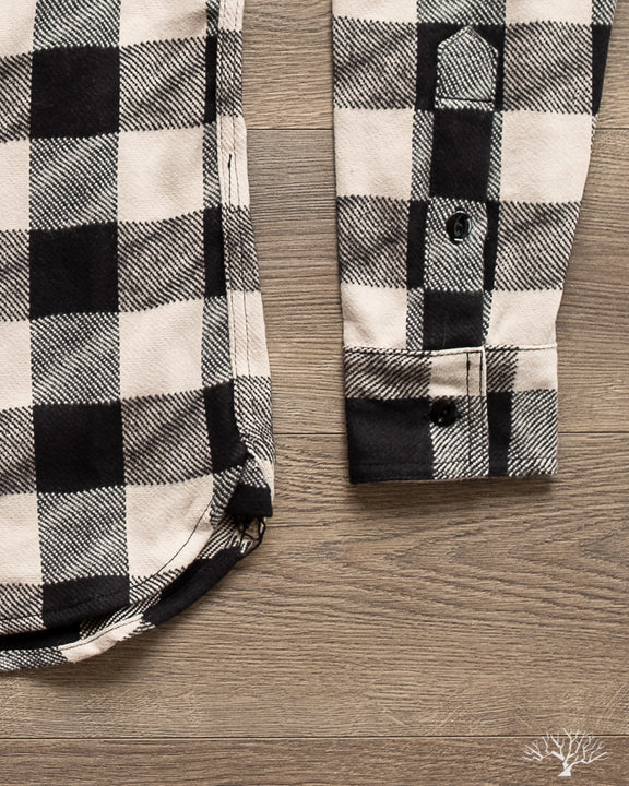 3sixteen Drunk Check Crosscut Flannel - Black/White