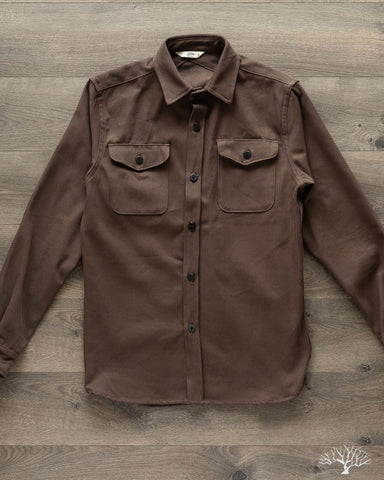 Brown Twill CPO Overshirt