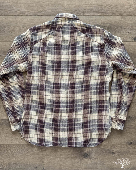 Crosscut Flannel - Brushed Blue/Cream