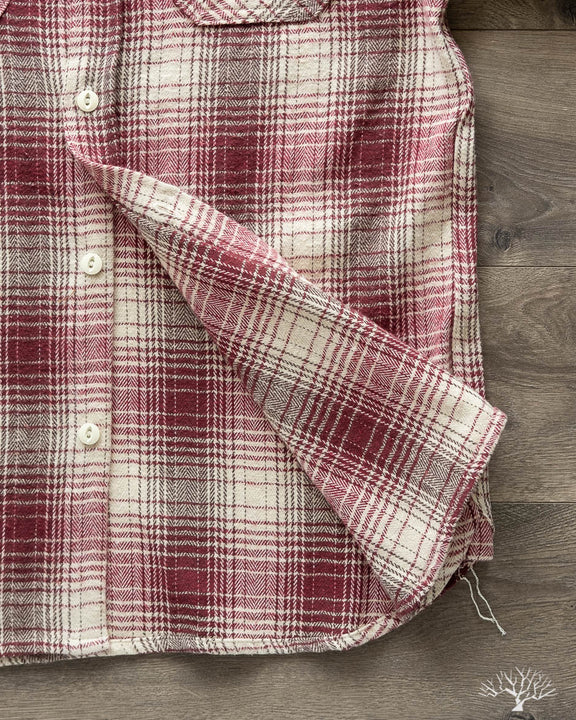 Crosscut Flannel - Brushed Red/Cream