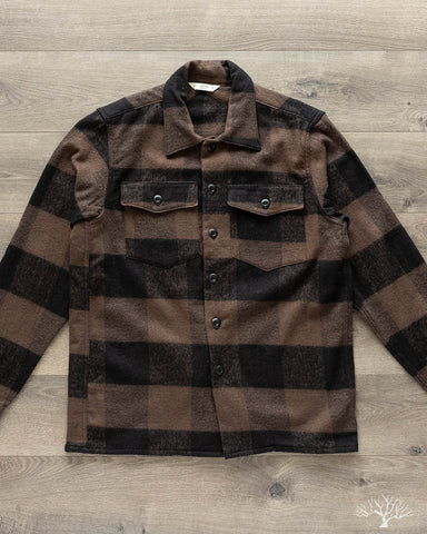 Fatigue Overshirt - Brown Buffalo Check