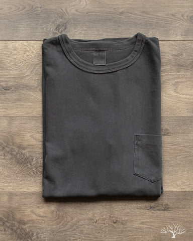 Garment Dyed Pocket Tee - Smoke