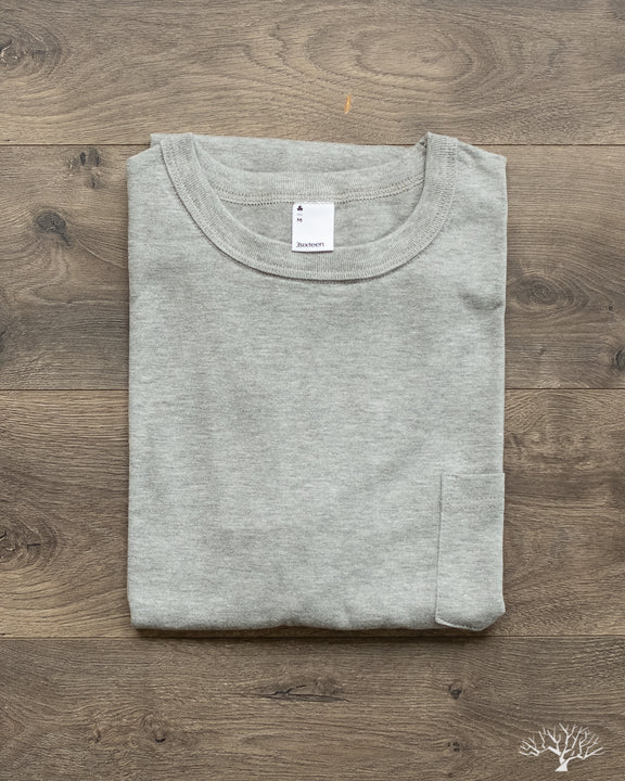 Heavyweight Pocket Tee - Heather Grey