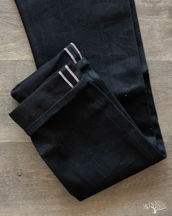NT-220x Narrow Tapered Double Black Selvedge Denim