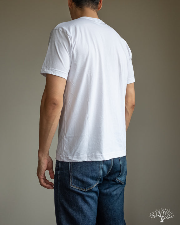 Pima Cotton Pocket Tee - White