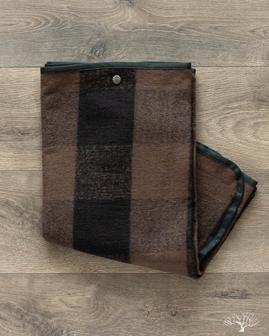 Snap Shawl - Brown Buffalo Check