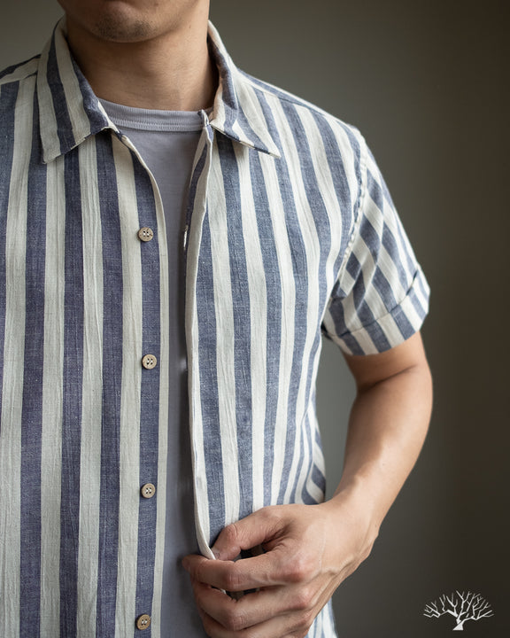Vacation Shirt - Navy Stripe