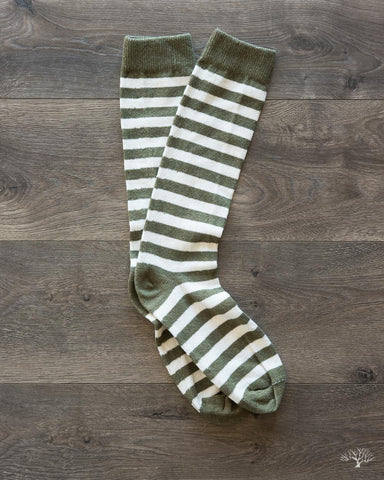Rugby Stripes Socks - Army/White