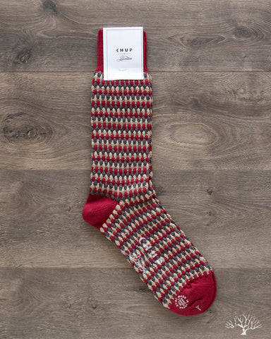 CHUP for 3sixteen Pineapple Forest Sock - Burgundy