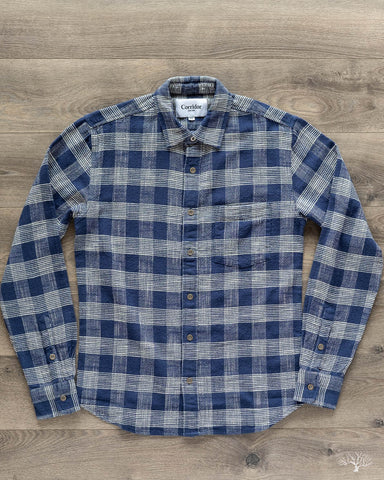 Indigo Blue Triple Check Long-Sleeve Shirt