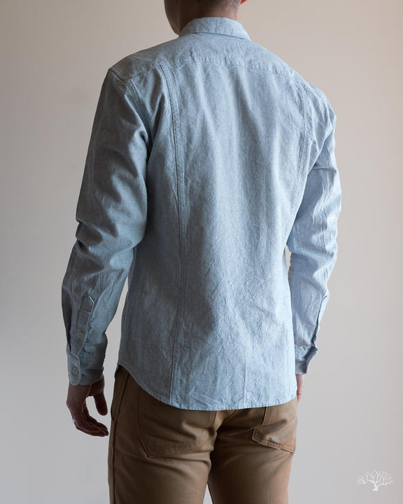 Basketweave Blue Shirt