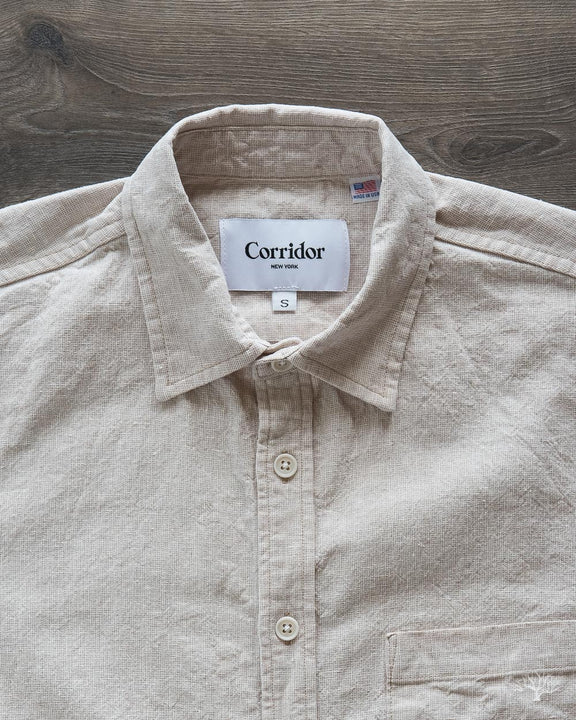Basketweave Natural Shirt