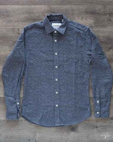 Heathered Navy Flannel Shirt