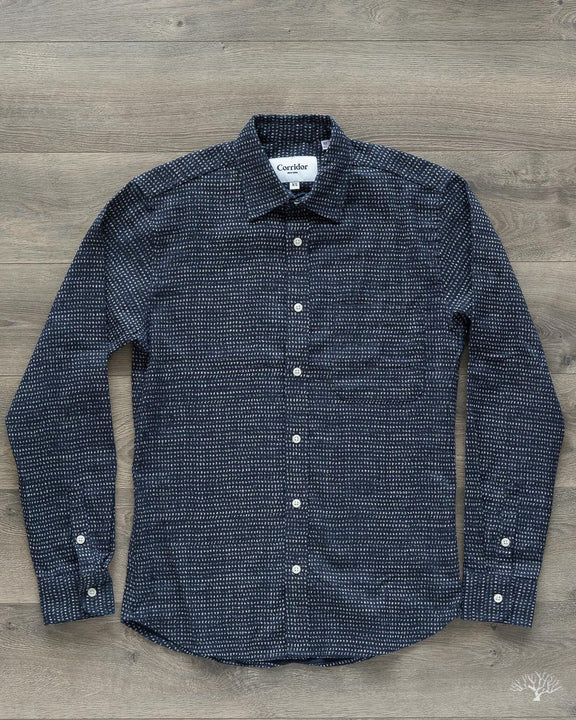 Japanese Dot Indigo-Dyed Shirt