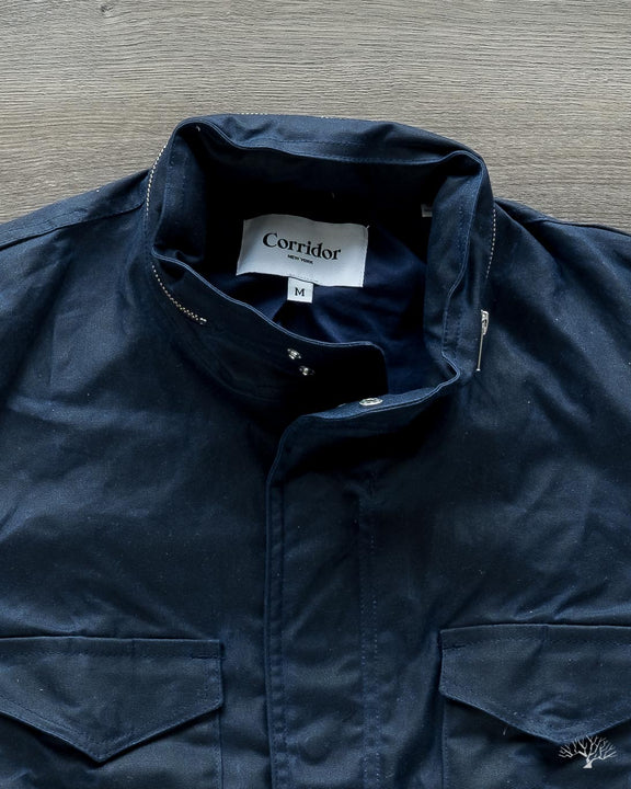 Waxed Cotton M65 - Navy