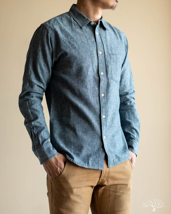 c2380d13664c Corridor - Summer Linen Chambray Long-Sleeve Shirt – Withered Fig