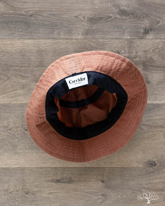 Waxed Summer Brown Bucket Hat