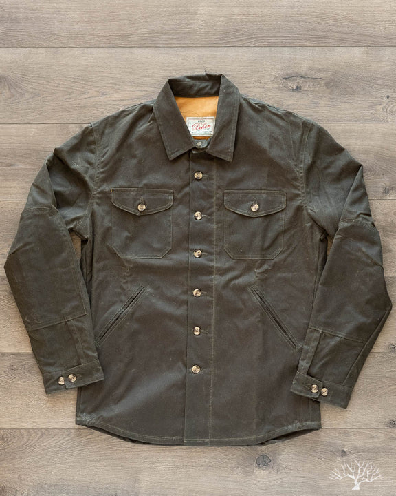 Waxed Canvas Crissman Overshirt - Loden
