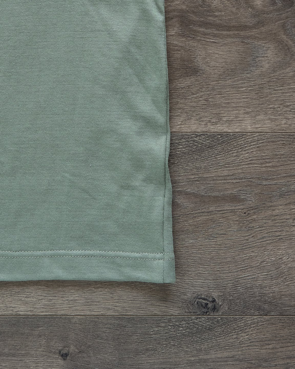 1950s Organic Cotton Crew Neck Tee - Light Army