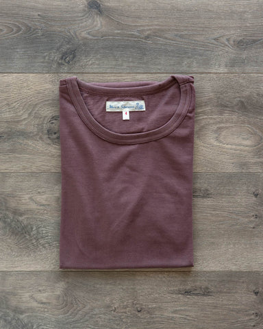1950s Organic Cotton Crew Neck Tee - Red Oak
