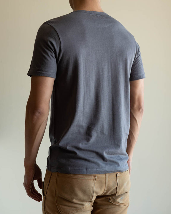 1950s Organic Cotton Crew Neck Tee - Stone