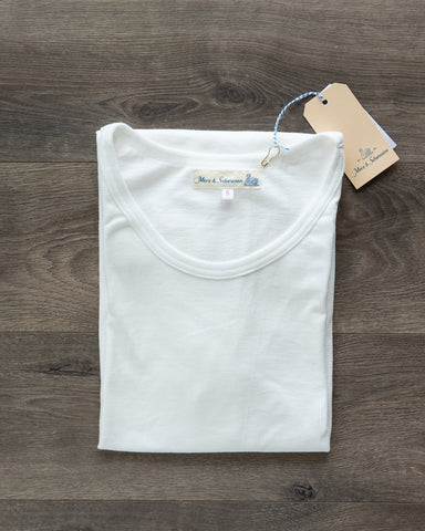 1960s Organic Cotton Army Rib Tee - White