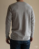 Organic Cotton Henley Long Sleeve (206) - Grey Melange