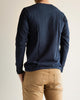 Organic Cotton Henley Long Sleeve (206) - Ink Blue