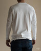 206 Long Sleeve Henley - White