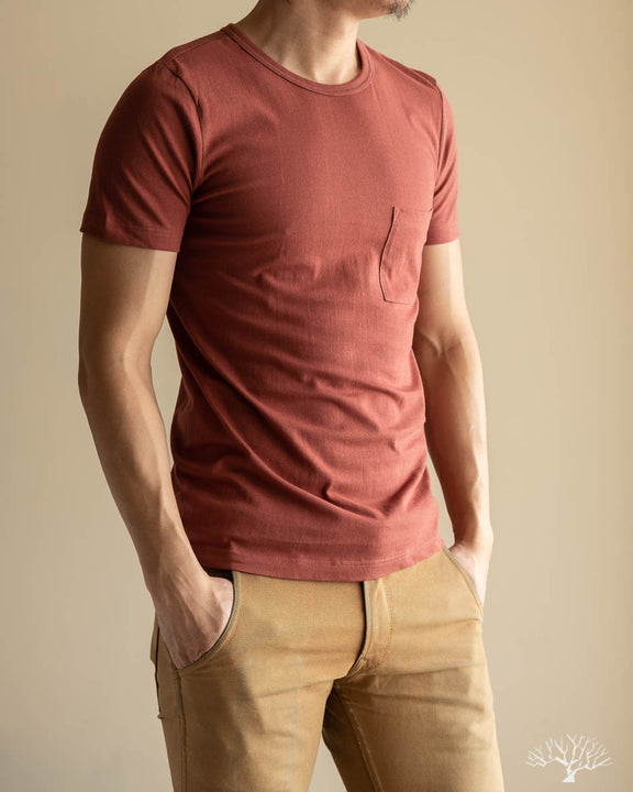 1950sP Organic Cotton Crew Neck Pocket Tee - Copper