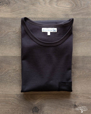 215P Tonal Crew Neck Tee - Charcoal/Black