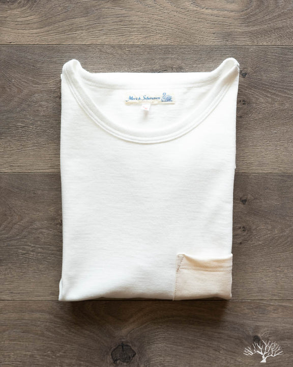 215P Tonal Crew Neck Tee - White/Nature
