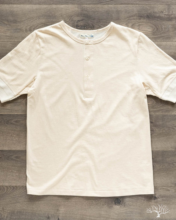 2H07 Hemp / Organic Cotton Henley Short Sleeve - Nature