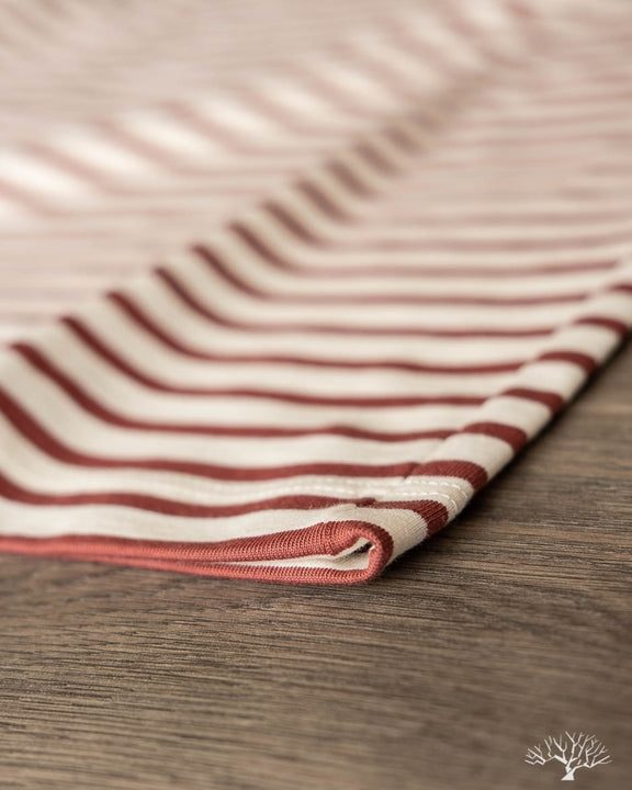 2M15 Crew Neck Striped Tee - Nature/Copper