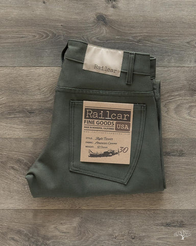 American Duck Canvas Flight Trousers - Olive