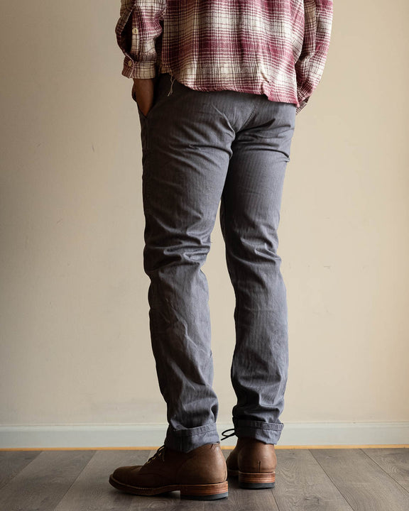 3sixteen x Alpha Industries Herringbone Twill Chinos - Natural Iron Dye