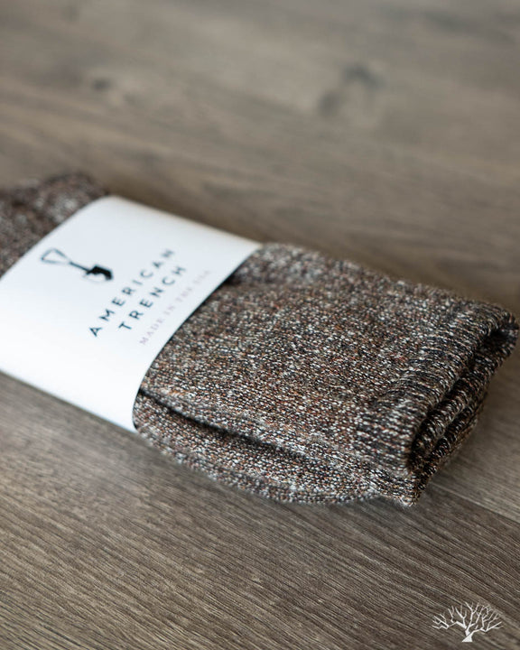 Cashmere Slub Socks - Tigers Eye