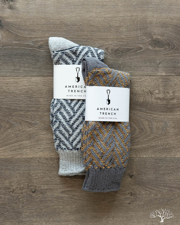 Exploded Herringbone Socks - FW19 Two-Pack