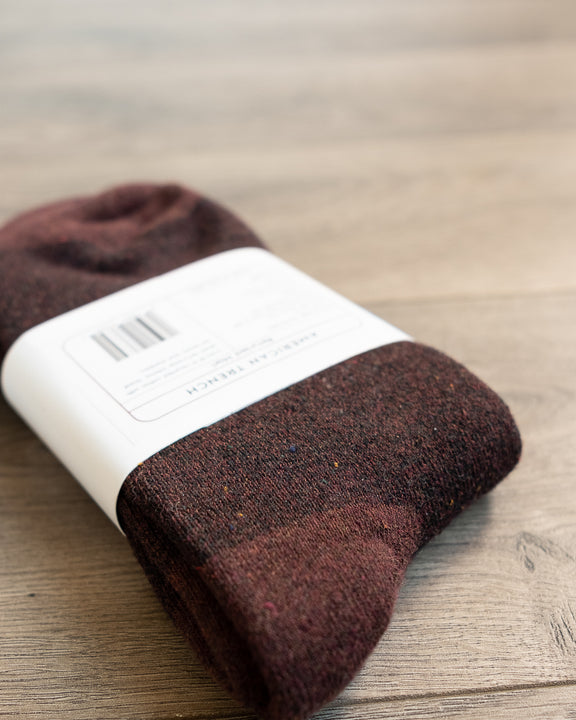 American Trench Recycled Marl Socks Mocha