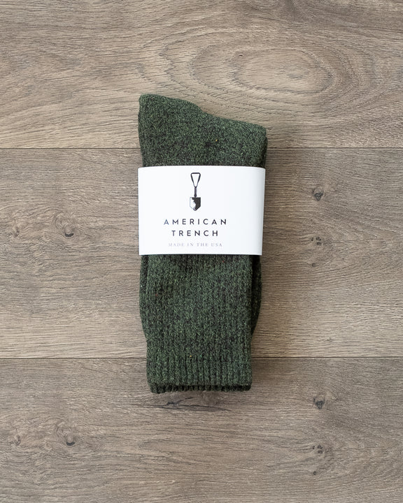 American Trench Recycled Marl Socks Moss