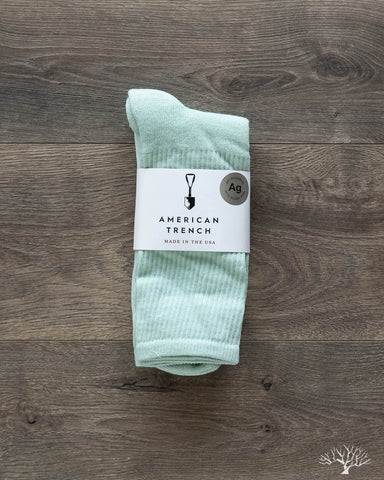 Silver Crew Socks - Mint