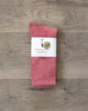 American Trench Silver Crew Socks Dusty Rose
