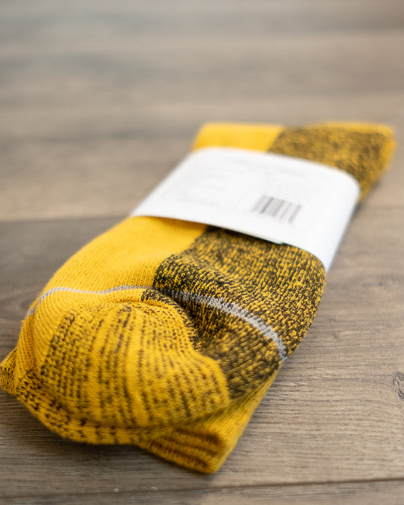 Silver Crew Socks - Gold